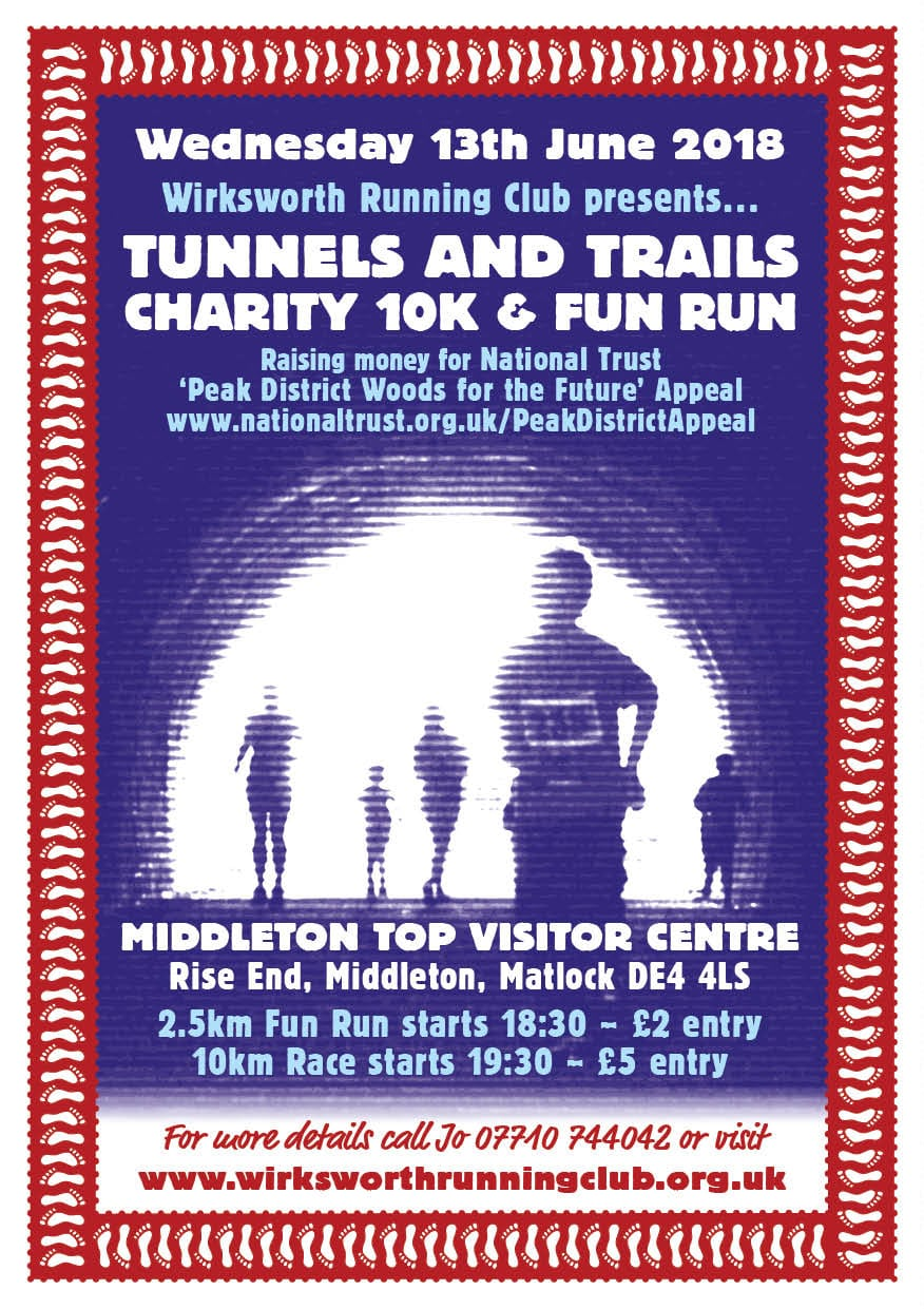 New tunnels and Trails race poster 2018