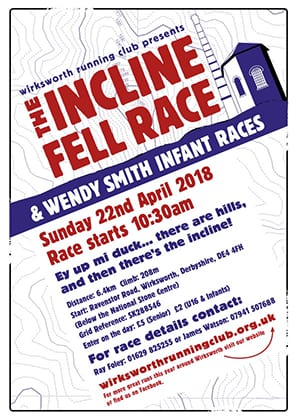 New Incline Race 2018 poster and entry forms