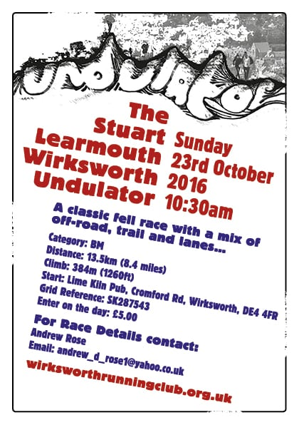 Stuart Learmouth Memorial Undulator Race Sunday 23rd October 2016 10.30am.