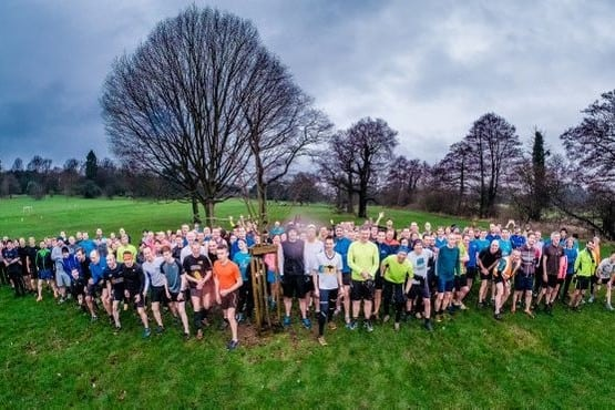 DEKL20160102A-001_C.jpg Picture: Dean Martin Today saw 100's of runners gather at Darley Park for a weekly 5km timed park run. Pictured are the runners  at the start line ready to run.
